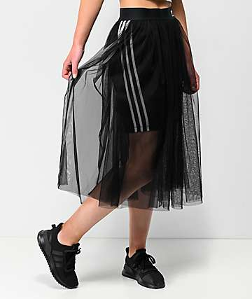 adidas 3 Tulle Black Skirt