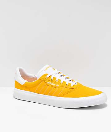 adidas 3MC Gold & White Skate Shoes