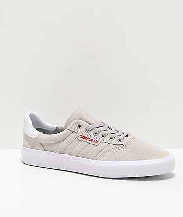 adidas 3MC Grey, White & Scarlet Shoes