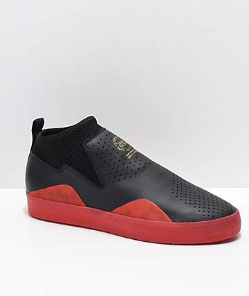 02800d0162 adidas 3ST.002 Nakel Black   Red Shoes