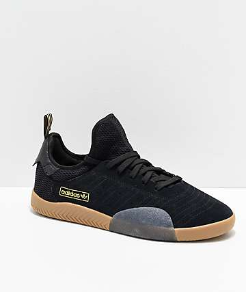 adidas 3ST.003 Black, Gold & Gum Shoes