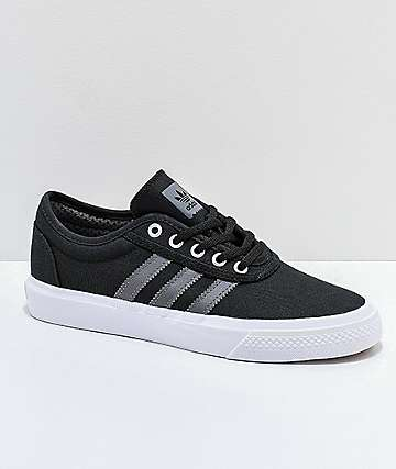 adidas AdiEase Black, White & Grey Shoes