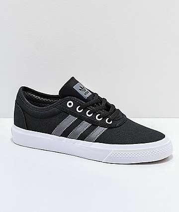 adidas AdiEase Black, White & Grey Shoes