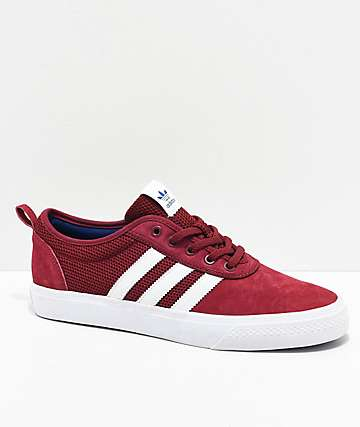 adidas AdiEase Maroon & White Shoes