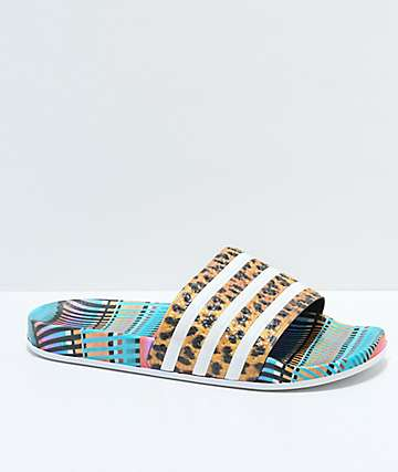 adidas Adilette Leo Stripe Slide Sandals