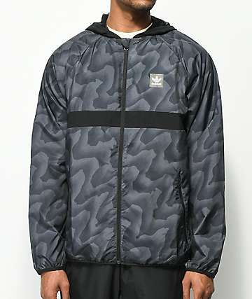 adidas BB Wrap Black & Grey Windbreaker Jacket