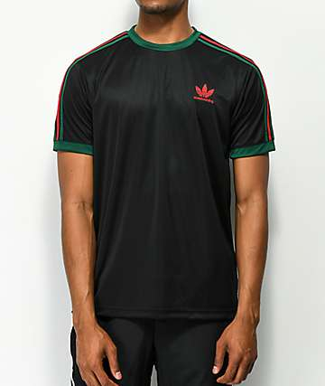 adidas Black, Red & Green Skate Jersey
