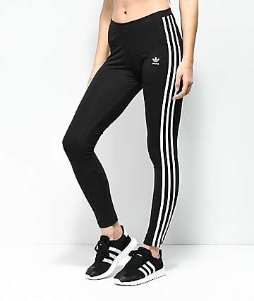 adidas Black 3 Stripe Leggings