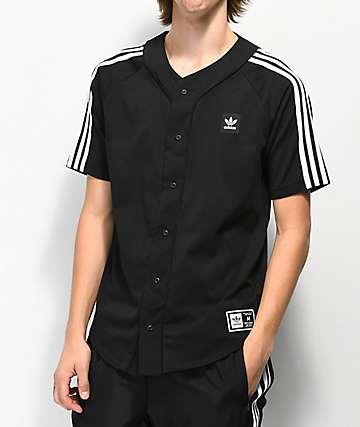 adidas Black Baseball Jersey