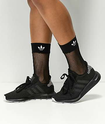 adidas Black Fishnet Socks