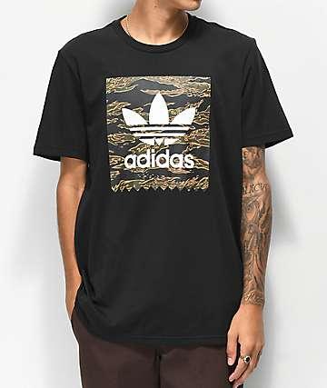 adidas Blackbird Camo Fill camiseta negra