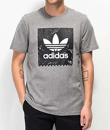 adidas Blackbird Heather Grey & Marble T-Shirt