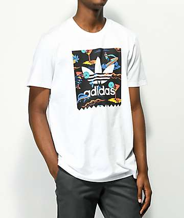 adidas Blackbird Resort White T-Shirt