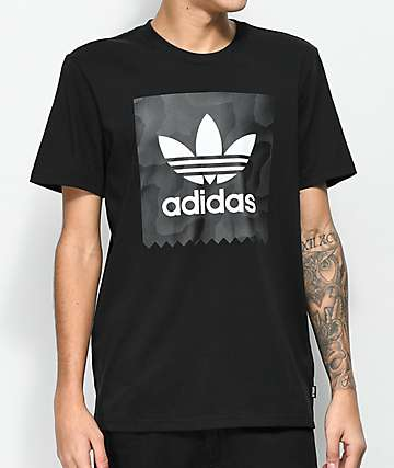 adidas Blackbird Solid Black & Warped T-Shirt