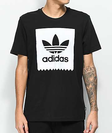 adidas Blackbird Solid Black & White T-Shirt