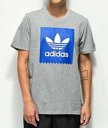 adidas Blackbird Solid Core camiseta gris y azul real