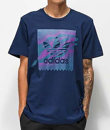 adidas Blackbird Tennis Tribe camiseta morada y azul