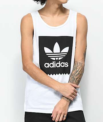 adidas Blackbird White Tank Top