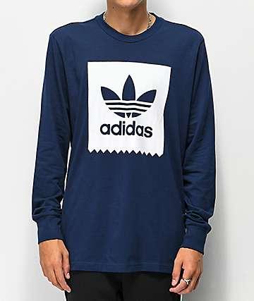adidas Blackbird camiseta de manga larga azul marino