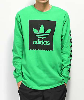 adidas Blackbird camiseta verde de manga larga