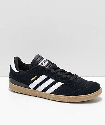 adidas Boys Busenitz Pro Black, White & Gum Skate Shoes