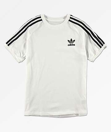 adidas Boys California White T-Shirt