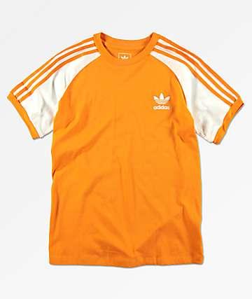 adidas Boys California Yellow T-Shirt