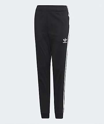 adidas Boys Superstar Black Track Pants