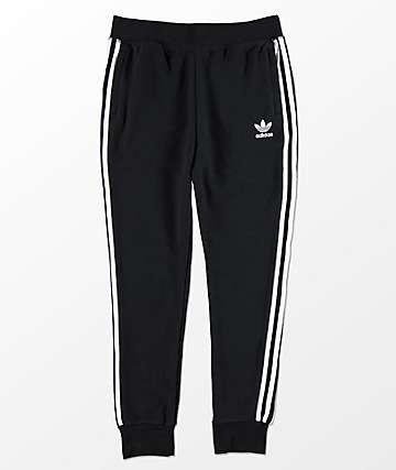 adidas Boys Trefoil Black Sweatpants
