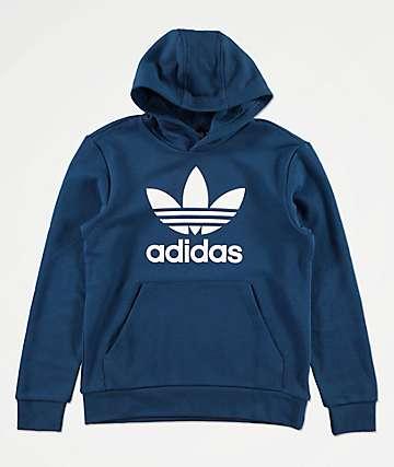 adidas Boys Trefoil Blue Hoodie