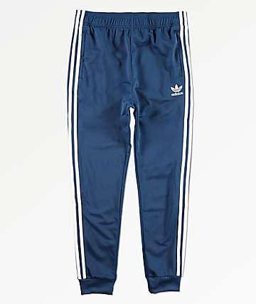 adidas Boys Trefoil Marine Track Pants