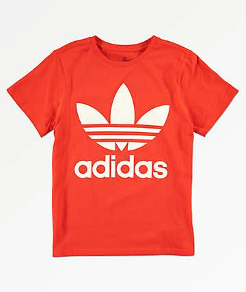 adidas Boys Trefoil Orange T-Shirt
