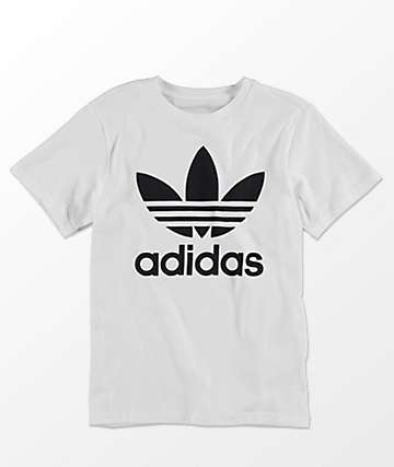 adidas Boys Trefoil White T-Shirt