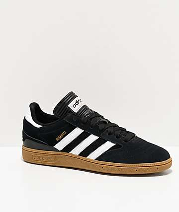 adidas Busenitz Black, White, & Gum Shoes