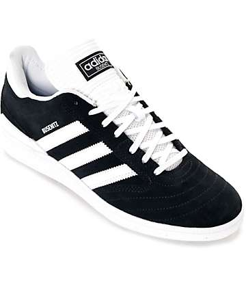 adidas Busenitz Black & White Suede Shoes