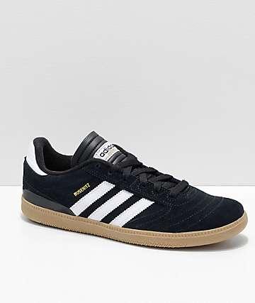 adidas Busenitz Pro Black, White & Gum Skate Shoes