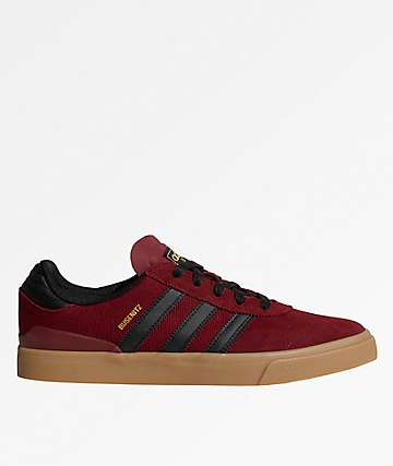 adidas Busenitz Vulc Burgundy, Black & Gum Shoes
