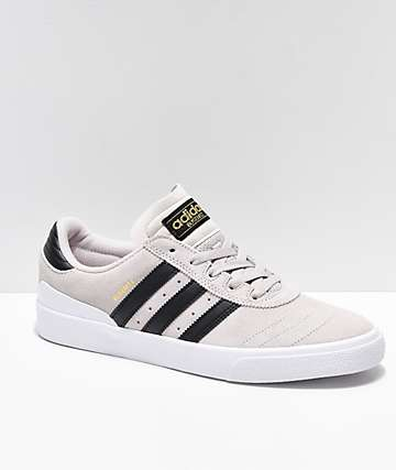 first rate f9733 7302c adidas Busenitz Vulc Crystal White   Black Shoes