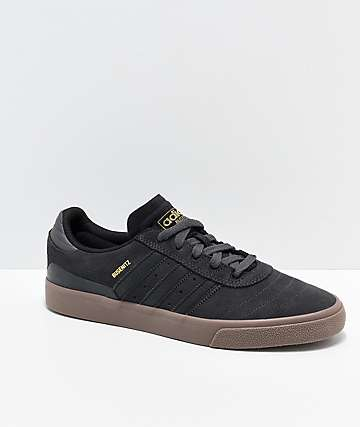 adidas Busenitz Vulc Grey, Black & Gum Shoes