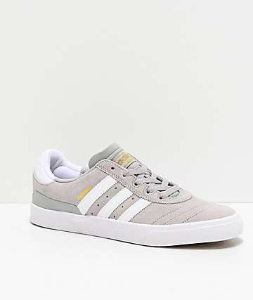 adidas Busenitz Vulc Grey, White & Gold Shoes