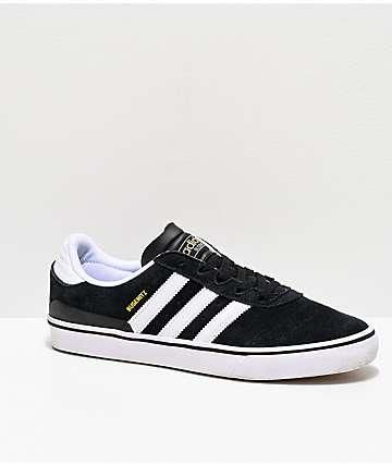 cc9dbc5d78e3 adidas Busenitz Vulc White   Black Shoes