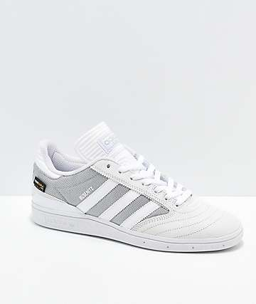 adidas Busenitz White Suede & Cordura Canvas Shoes