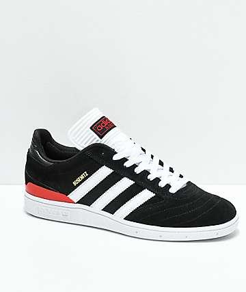 adidas Busenitz zapatos negros, blancos y rojos