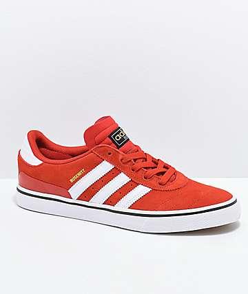 adidas Busentiz Vulc zapatos rojos y blancos