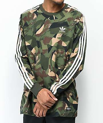 adidas CA Camo Long Sleeve T-Shirt