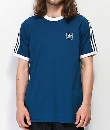 adidas California Blackbird Blue & White T-Shirt
