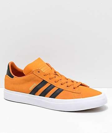 adidas Campus Vulc II zapatos en naranja, negro y blanco