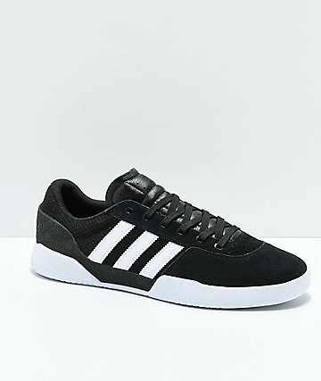 adidas City Cup White & Black Shoes