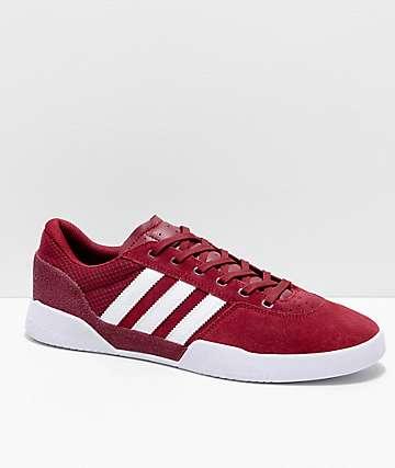 adidas City Cup zapatos burdeos y blancos