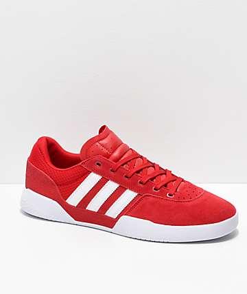 adidas City Cup zapatos rojos y blancos